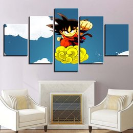 $enCountryForm.capitalKeyWord NZ - Pictures Home Decoration Living Room Poster 5 Panel Anime Dragon Ball HD Printed Modern Canvas Painting Wall Art Modular Framework