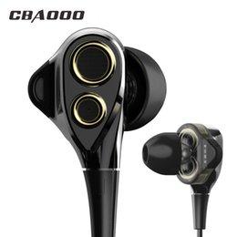 $enCountryForm.capitalKeyWord Australia - CBAOOO DT100 In-Ear Earphones HIFI Sport Stereo Bass Earbuds 4 Speakers Headset 3.5MM Wired Earphone for xiaomi iphone phone