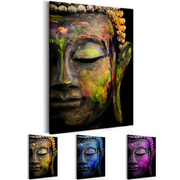 $enCountryForm.capitalKeyWord Australia - Unframed 1 Panel Large HD Printed Canvas Print Painting Zen Watercolor Buddha Head Home Decoration Wall Pictures for Living Room Wall Art on
