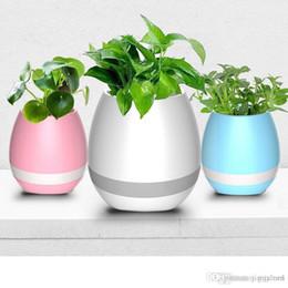$enCountryForm.capitalKeyWord Australia - 20pcs Creative Music Vase Smart Music Flowerpot Wireless Bluetooth Speaker K3 Intelligent Plant Piano Music with Colorful LED Night Light