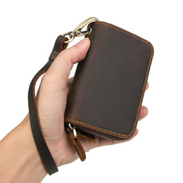vintage leather car key holders NZ - 2018 Best Selling Men Cow Leather Purse Car Key Wallets Fashion Women Housekeeper Holders 8185