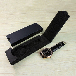 watch box black Australia - 1Pcs High Quality Luxury Watch Box Case Black New Watches Boxes Folding Bangle Jewelry Bracelet Holder Packaging Carton Gift