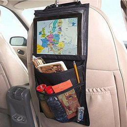 $enCountryForm.capitalKeyWord Australia - Nylon+PVC Fabric car seat organizer Truck Back Seat Chair Multi Pocket Auto Storage Bag WithTouch Screen Film