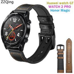 83d93b9e35bd Muñequera banda de 22 mm Para reloj Huawei Correa GT Silicona + Cuero  Deportes Correas de reloj inteligentes para 2 correas mágicas Pro   Honor