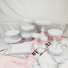 Decorating Birthday Cupcakes Australia - 10Pcs Wedding Set Tier Round Birthday Metal Pink Fancy Wholesale Decorating Supply 3 Tire Cake Stand
