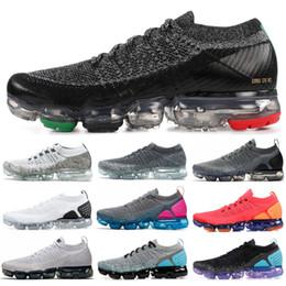 Women red loW shoes online shopping - 2019 New BHM Rainbow Fly V1 V2 Men Women Running Shoes Red Orbit Oreo Asphalt Grey Designer Mens Jogging Sneakers Size