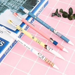 $enCountryForm.capitalKeyWord Australia - Cartoon Animal Dog 2.0 Refills Signature Automatic Pencil with Pencil Sharpener Cute Mechanical School Stationery