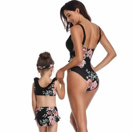 a99193b08754a 2019 new parent-child one-piece swimsuit Europe and the United States  explosion mother and daughter swimsuit manufacturers spot wholesale