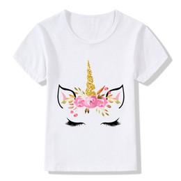$enCountryForm.capitalKeyWord Australia - Cute Unicorn Face Design Children Funny T shirt Baby Boys Girls Harajuku Summer White T-shirt Kids Cartoon Clothes,ooo5177