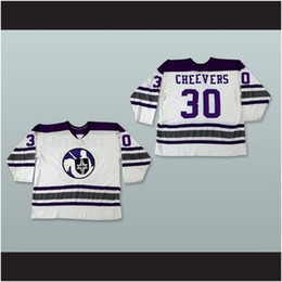 Wholesale Custom XS XL WHA Cleveland Crusaders Gerry Cheevers Home Hockey Jersey Any Player Any Name