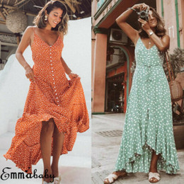 Green ankle lenGth eveninG dress online shopping - Boho Maxi Dress New Hot Selling Women Long Dress Holiday Evening Party Beach Sundress Ladies Sleeveless Dresses Female