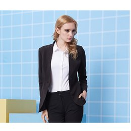 Women pants suits for Weddings online shopping - New Style Slim Fit Black Women Tuxedos Wedding Suits For Women Two Button Business Women Suits Custom made