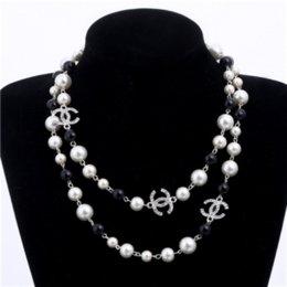 2019 نساء موضة جديدة قلادة اللؤلؤ الطبيعي قلادة سترة متعدد الطبقات الماس قلادة استيراد الكريستال بروش مجوهرات الزفاف والمجوهرات