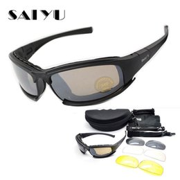 Military goggles online shopping - SAIYU X7 Military Goggles Bullet proof Army C6 Polarized Sunglasses Lens Hunting Shooting Airsoft Cycling Motorcycle Glasses