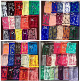 71 colors brand skull scarf for women and men Best quality 100% pur silk satin fashion women Italy brand scarves pashmina shawls on Sale