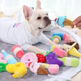 squeaking toy wholesale NZ - Plush Dog Toys for Dog Puppy Chew Toy Small Medium Dogs Toy Squeak Pet Sound Toy Peluche Dogs Supplies French Bulldog Chihuahua