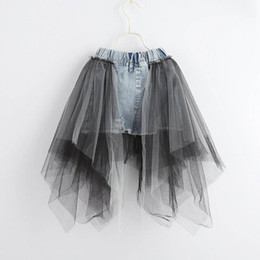Wholesale jeans pencil skirt for sale - Group buy Summer new lace Girls Skirts princess denim A Line Kids Skirt jeans Pencil Skirts kids clothes kids dress girls clothes A4442