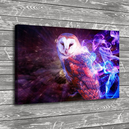 $enCountryForm.capitalKeyWord Australia - Owl Smoke Fire Multicolore,1 Pieces Home Decor HD Printed Modern Art Painting on Canvas (Unframed Framed)