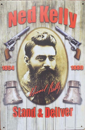 Wholesale all best ned kelly stand and deliverl sinclair motor oil Vintage Tin Signs Retro Metal Sign Painting Decor The Wall Mixed designs