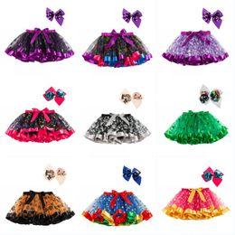TuTu mini online shopping - Baby Girl Halloween Tutu with Bowknot Headband Kids Colorful Halloween Christmas Party Dress Child Girl Mesh Cake Skirt