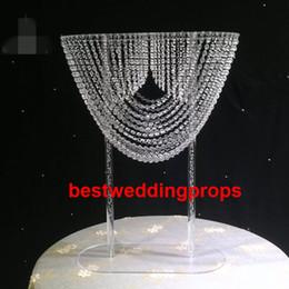 Crystal Table Decor Australia - New style Iridescent acrylic crystal table chandelier hanging chandelier for weddings aisle decor best0996