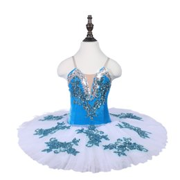 Chinese  Children Professional Ballet Tutus Lake Blue Ballet Adult Dance Clothes blue Fairy Girl Puff Skirt Costume Tutu Skirt manufacturers