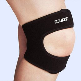 3970b3ca4a AOLIKES Adjustable Elastic Knee Support Brace Kneepad Patella Knee Pads  Hole Sports Kneepad Safety Guard Strap For Running