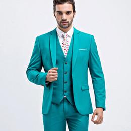 Beige Slim Suits For Men Australia - 2019 Men Suits Notched Lapel One Button Wedding Tuxedos Slim Fit men prom suits wedding suit for men (Jacket+Pants+Vest+Tie)
