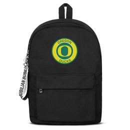 $enCountryForm.capitalKeyWord NZ - Unisex high quality nylon Backpack Oregon Ducks Round Logo designer Printed Laptop Backpack Bookbag free shipping