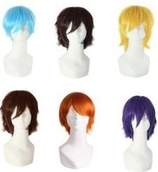 White Tail Cosplay Australia - Hair products toupee hairpiece boy cosplay hair wigs Long horsetail tail festival ceremony party ornament