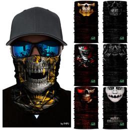 Cosplay tube online shopping - Motorcycle Ski Balaclava The Purge Cosplay Party Masks Snowboard Scarf Skull Neck Warmer Face Mask Bandanas Neck Tube Headband