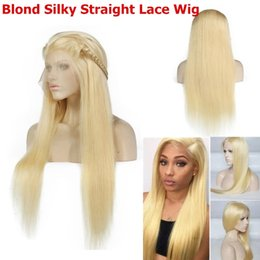 $enCountryForm.capitalKeyWord Australia - 150% Density Synthetic Lace Front Wig Silky Straight hair Women Wig 613# Blonde 14 to 26
