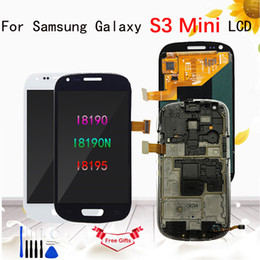 Galaxy S3 Touch Screen Assembly Australia - AMOLED LCD for Samsung Galaxy S3 Mini LCD Display i8190 GT-i8190 i8195 i8200 Touch Screen Digitizer Assembly Replacement Parts