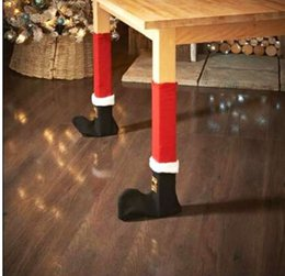 Indoor Chairs Australia - Fashion 4 Pcs Santa Claus Chair Leg Foot Covers Lovely Table Decoration Christmas Decorations For Home Christmas New Year