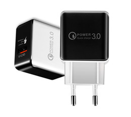 Eu Smart Plug Australia - QC 3.0 Fast Wall Charger USB Quick Charge Travel Power Adapter US EU Plug iphone charger for iPhone X 8 7 Samsung S10 S9 Smart charger