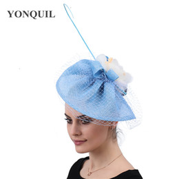 $enCountryForm.capitalKeyWord Australia - Ladies elegant hair fascinators for wedding hats veils bridal women race occasion headwear flower hair clips accessories free shipping