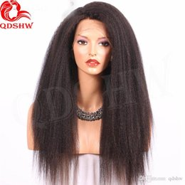 glueless virgin kinky wig NZ - Human Hair Lace Front Wigs Kinky Straight Virgin Brazilian U Part Wigs Glueless 360 Frontal Full Lace Wigs Pre Plucked With Baby Hair