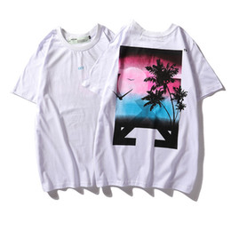 Silk kimono Set online shopping - 19SS New Pattern Arrow Greece Limit Setting Sun Pure Cotton Easy Short Sleeve T T shirt Men And Women With Paragraph