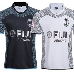 7cc5d9b0166 2019 2020 new FIJI Home away white balck rugby Jerseys NRL National Rugby  League shirt nrl jersey 19 20 fiji shirts size S-3XL