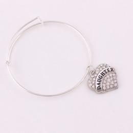 $enCountryForm.capitalKeyWord Australia - TX0021 Factory direct sales shiny zircon heart shape charm daughter nana mimi bracelet adjustable bangles for girlfriend gift jewelry