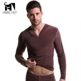 Wholesale onesies for men s online – ideas Men s Polyester Satin Pajama transparent Silk shirts for men erotische Long Sleeve sexy Nightwear jacket comfortable Sleepwear