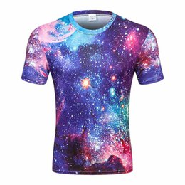 $enCountryForm.capitalKeyWord UK - 2019 Men's T-shirts in Foreign Trade Star Sky Series Printed 3D T-shirts with Round Necks and Cloth Short Sleeve T-shirts