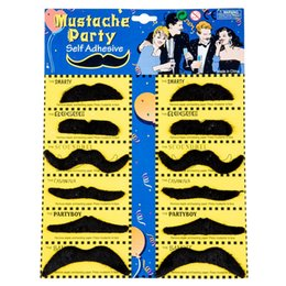 Self adheSive muStache online shopping - Top Pack Self Adhesive Assorted Fake Moustache Mustache Set Fancy Dress Party Birthday Stylish