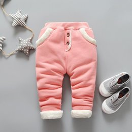 Baby Girl Red Leggings NZ - good quality 2019 Baby Warm Pants for Girls children Plus velvet thick leggings Infant Autumn winter warm baby pants 2019 New pants