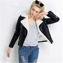 4ec2141db30 Women s shearling coats online shopping - New Faux Sheepskin Shearling  Winter Coat Women Black Warm