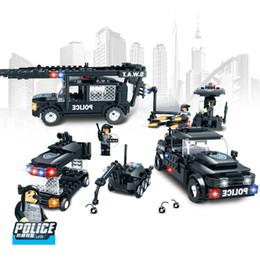$enCountryForm.capitalKeyWord Australia - 284pcs Children's Building Blocks Toy Compatible City Swat Series 3 In 1 Retriever Dog Demolition Anti-riot Vehicle MX190731