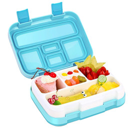 student lunch boxes UK - Lunch Box Children Student Storage Rectangular Container Multiple Grids School Clamshell Kids Dinnerware Bento Kitchen