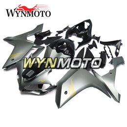 R1 Fairing Matte Black Australia - Motorcycle Fairings For Yamaha YZF 1000 R1 2007 2008 Matte Silver Gloss Black ABS Plastic Injection motorbike cowlings covers