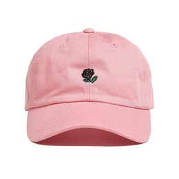 new golf ball wholesale 2019 - NEW Arrive Adjustable Baseball cap Unisex Sports Hat Rose Embroidery Sunscreen Snapback Golf Caps Men Women Trucker Hats
