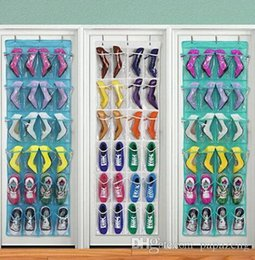 shoe boxes NZ - Sales!!!!2019 Wholesales Pocket Home Over The Door Hanging Organizer Storage Holder Rack Closet Shoes
